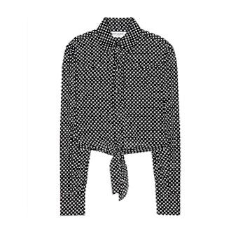 Cropped Polka-Dot Shirt