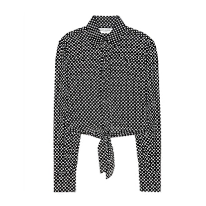 Cropped Polka-Dot Shirt