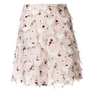 Feather Detail A-Line Skirt