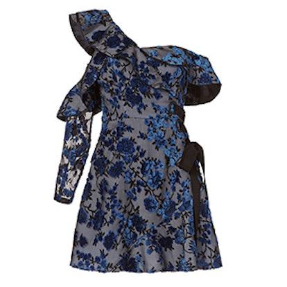 Eyelet Wrap Mini Dress