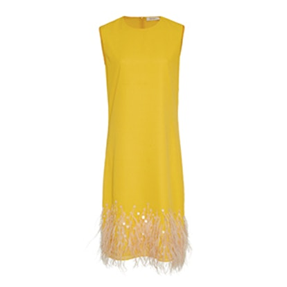 Belquas Feather Shift Dress