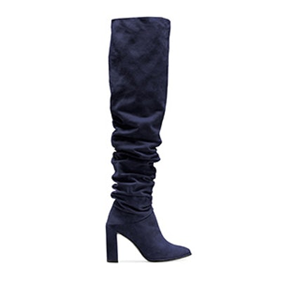 The Histyle Boot In Suede Blue