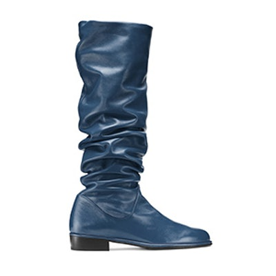The Flatscrunchy Boot in Nappa Leather Blue