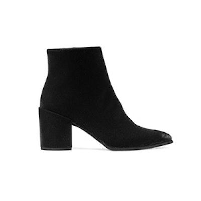 The Trendy Bootie in Black Suede