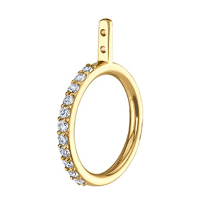 Diamond Hoop Earring Jacket
