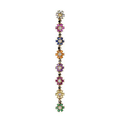 Rainbow Flower Drop Earrings