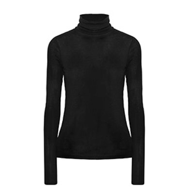 Ribbed Modal-Blend Turtleneck Sweater