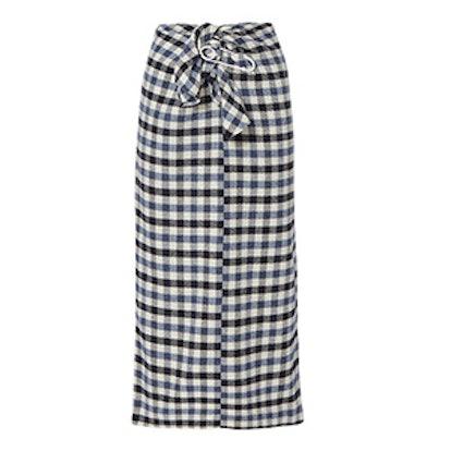 Tie Front Fairfax Gingham Skirt