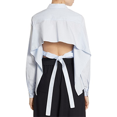 Tie-Back Cotton Shirt