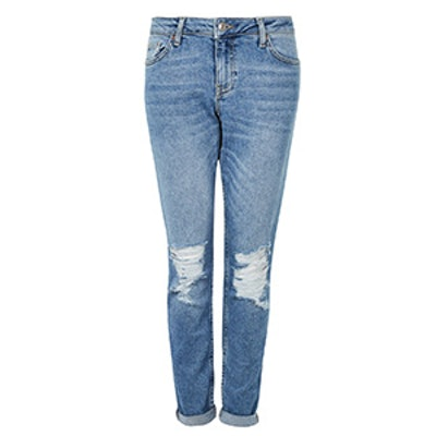 Moto Blue Ripped Lucas Jeans