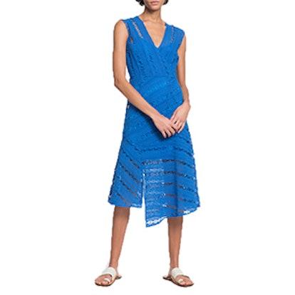 Inclusive Blue Surplice Dress