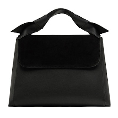 City Bag With Knots And Leather Detail