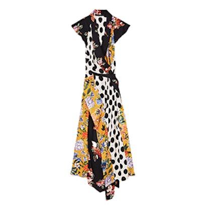Crossover Patchwork Dress