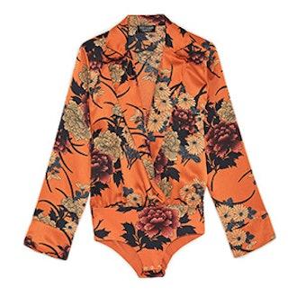 Printed Sateen Bodysuit