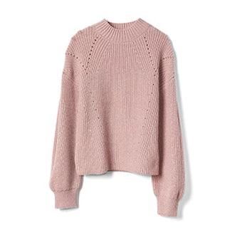 Textured Mockneck Pullover