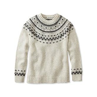 Ragg Wool Fair Isle Crewneck Sweater