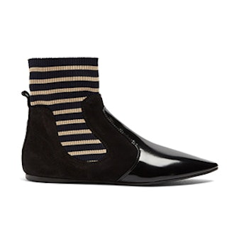 Amalee Striped Insert Leather Ankle Boots