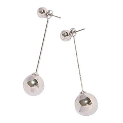 Beckett Silver Ball Ear Jackets