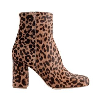 Calf Hair Zip Boots