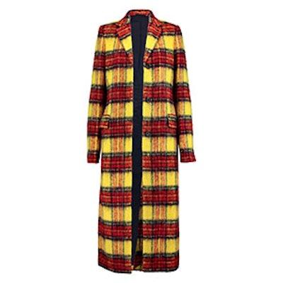 Alexa Checked Wool-Blend Coat