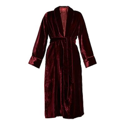 Aegle Belted Velvet Robe