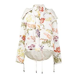 Reversible Floral Print Puffer Jacket