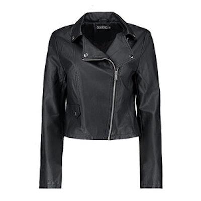 Zoe Vegan Leather Biker Jacket