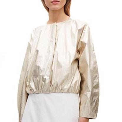 Metallic Coated Cotton Jacket