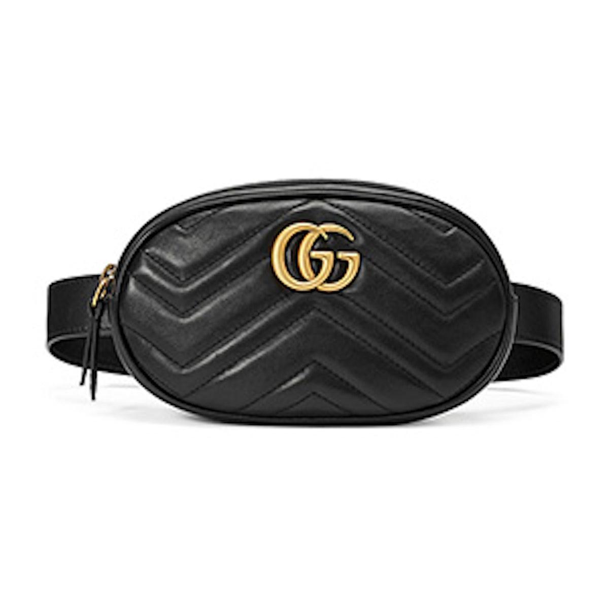 GG Marmont Small Matelassé Leather Belt Bag