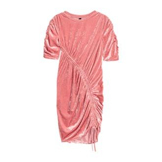 Crushed-Velvet Dress