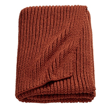 Rib-Knit Throw