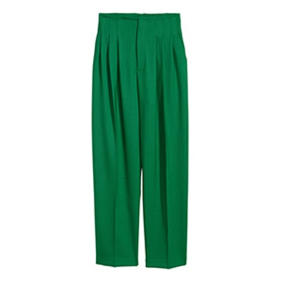 Wide-Leg Wool-Blend Pants
