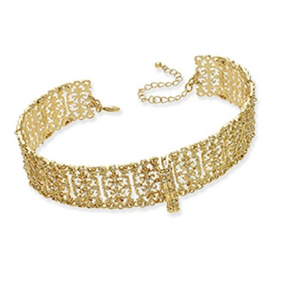M.Haskell for Gold-Tone Crystal Lace Choker Necklace