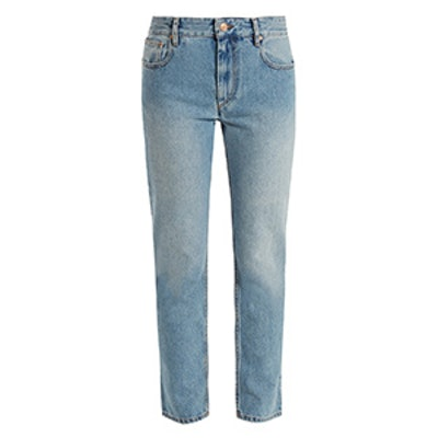 Cliff High-Rise Straight-Leg Cropped Jeans
