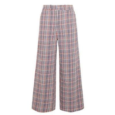 Ferrandi Checked Cotton-Tweed Wide-Leg Pants