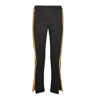 Scuba Striped Stretch-Neoprene Track Pants