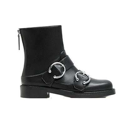 Piercing Detail Ankle Boots