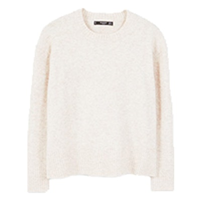 Ribbed Panels Sweater