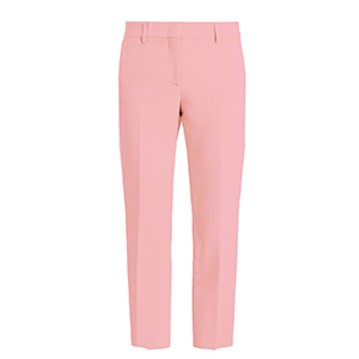 Slim-Leg Cropped Crepe Trousers