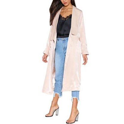 Leave 'Em In The Duster Satin Coat
