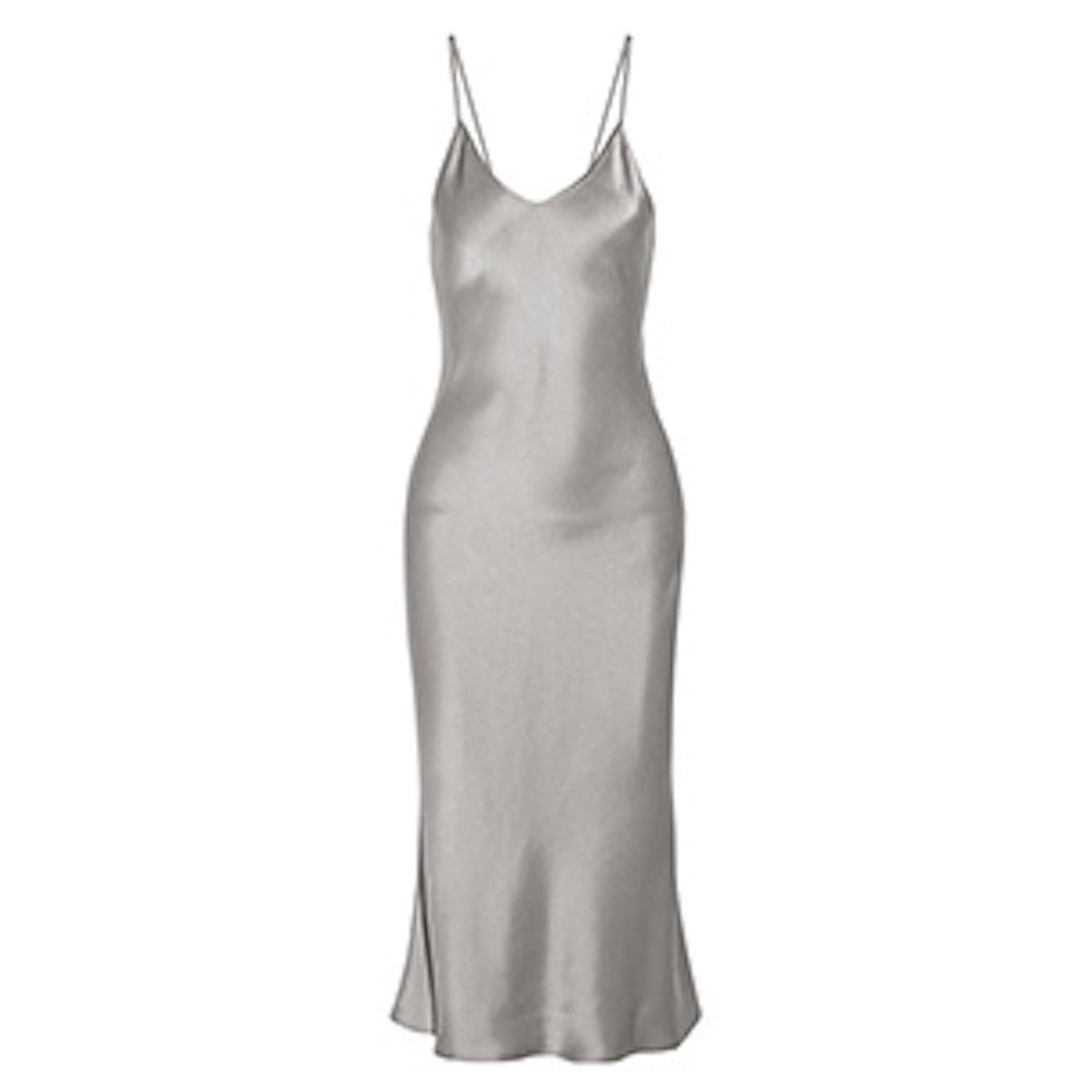 Satin Midi Dress