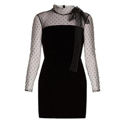 Velvet And Mesh Mini Dress