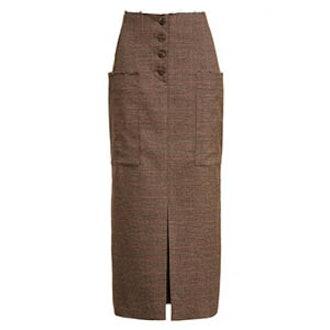 Carmen Button Front Midi Skirt