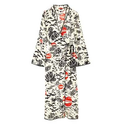 Cindy Printed Crepe Wrap Dress
