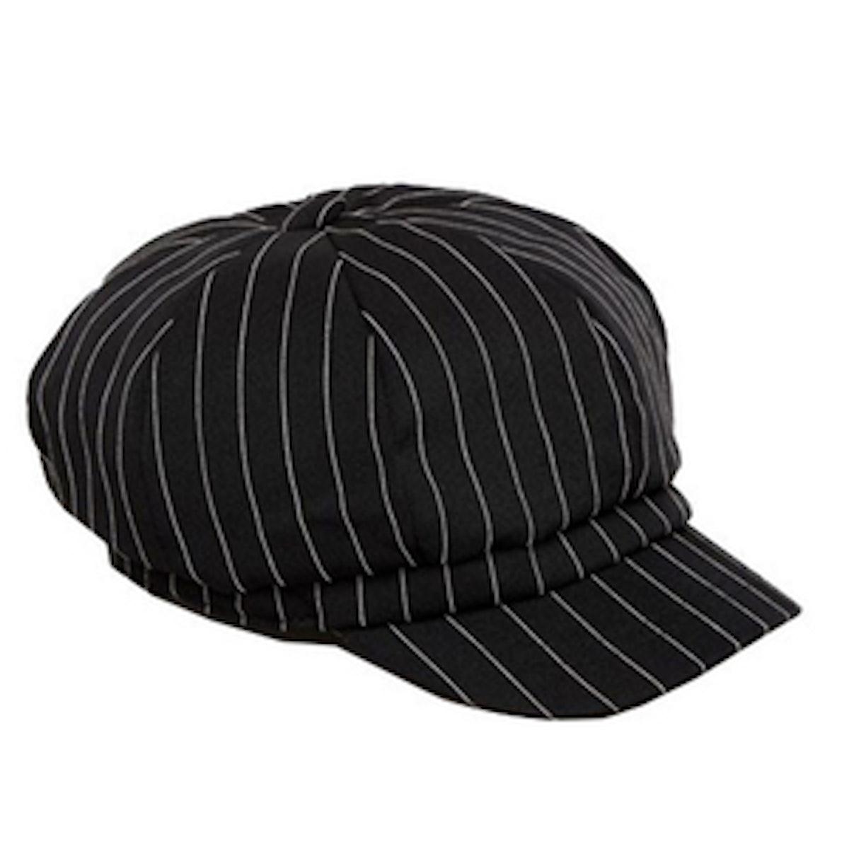 Pin Stripe Baker Boy Hat