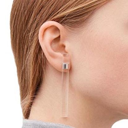 Tubular Sterling-Silver Earrings