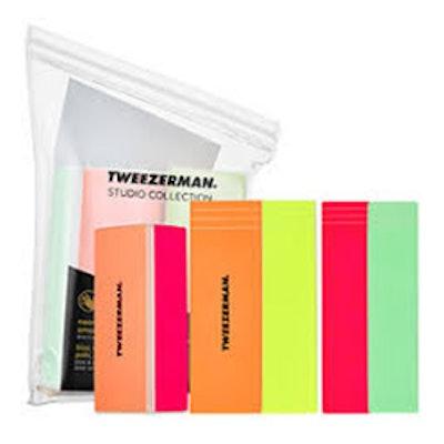 Tweezerman Neon Hot 4-in-1 File, Buff, Smooth & Shine Block