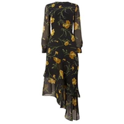 Carnation Print Midi Dress