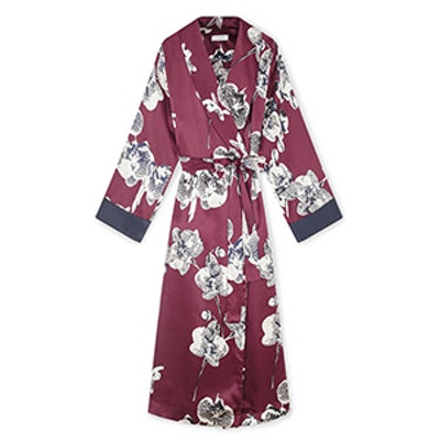 Orchid Silk Dressing Gown