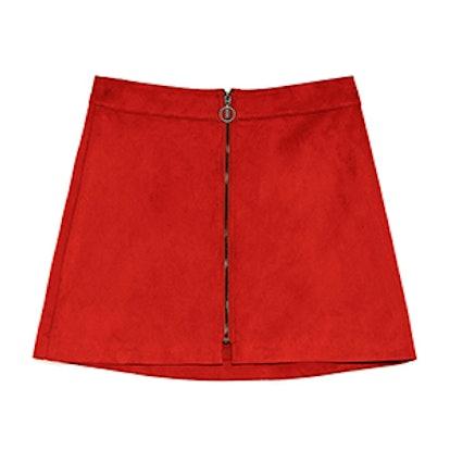 Zara Faux Suede Mini Skirt,